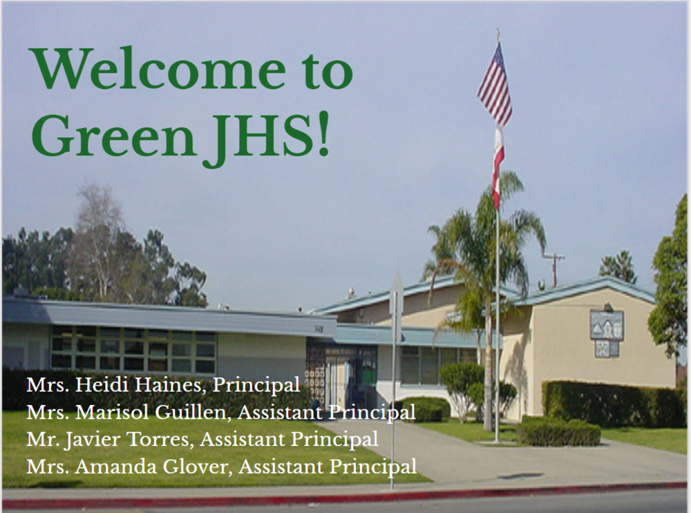 Welcome to Green JHS-Expectations Presentation