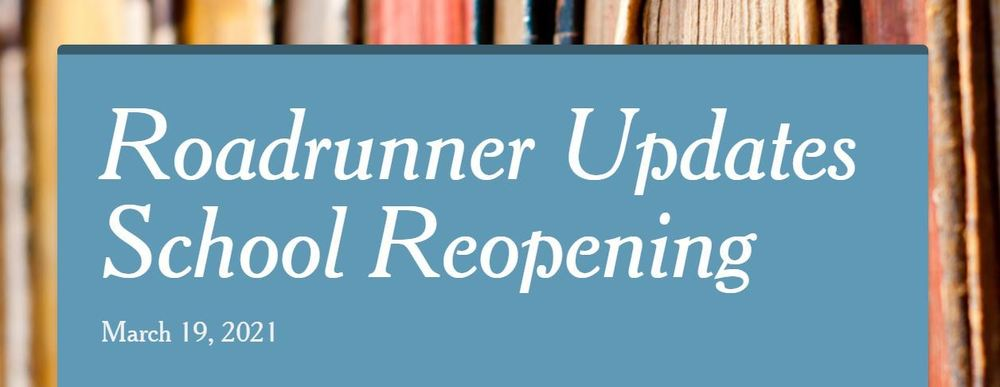 More School Reopening Updates!