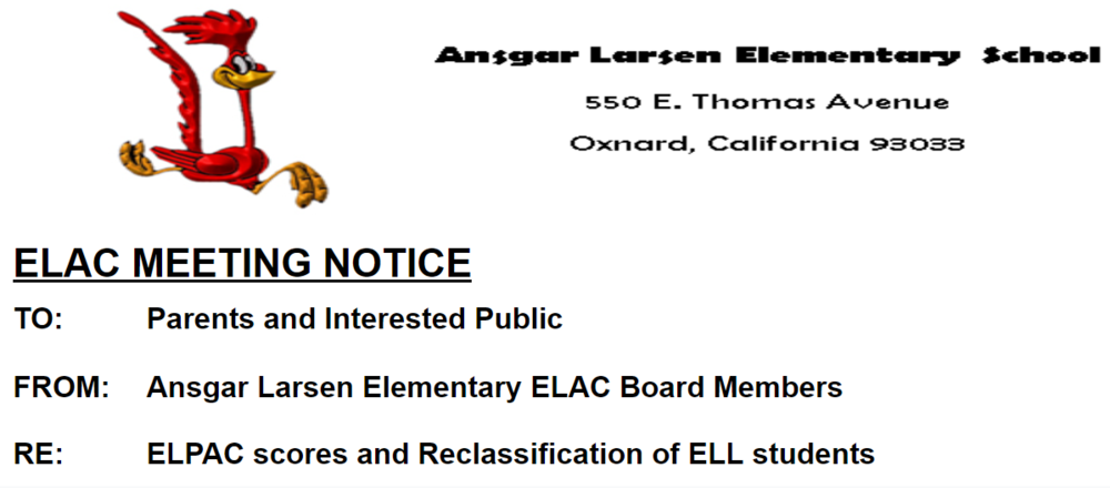 ELAC Committee Meeting