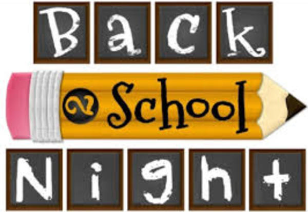 Back to School Night Calendar