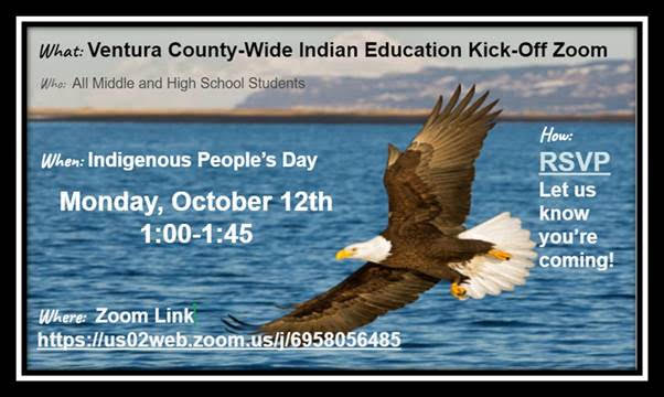 Ventura County-wide Indian Education Kick-off Zoom