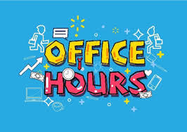 NEW OFFICE HOURS