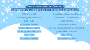Junior High School Winter Concerts