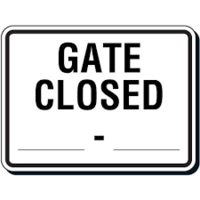 Dallas Drive gate closed effective 10/01/2018