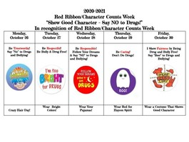 Red Ribon and Character Counts Week