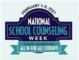 School Counselor Appreciation Week - Feb. 1-5