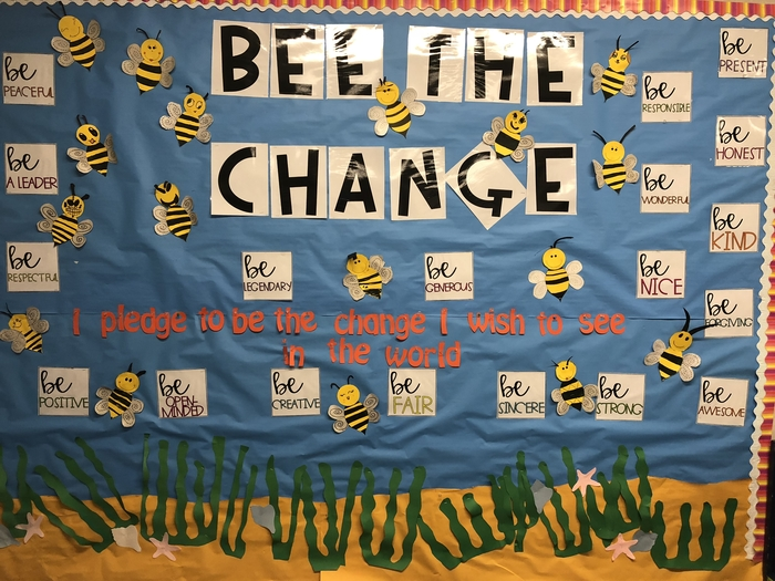 Bee the change you want to see in the world.