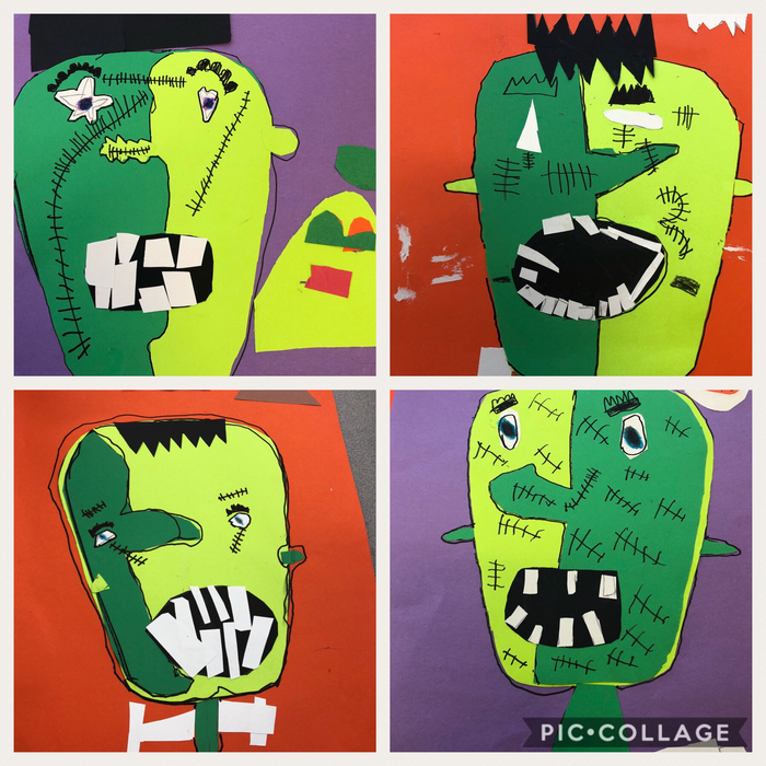 Picasso style Frankenstein in room 3