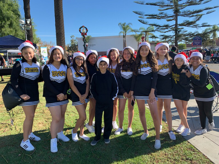 Blackstock Cheer at Oxnard Christmas Parade