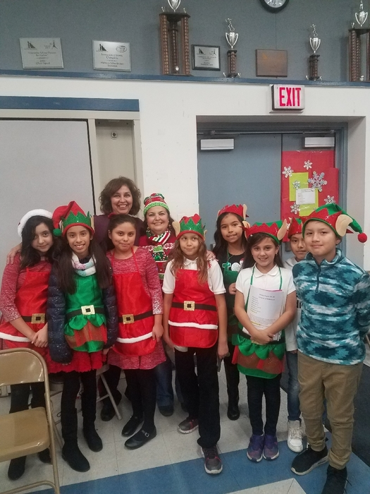 Student Council helping out with our Holiday Performance