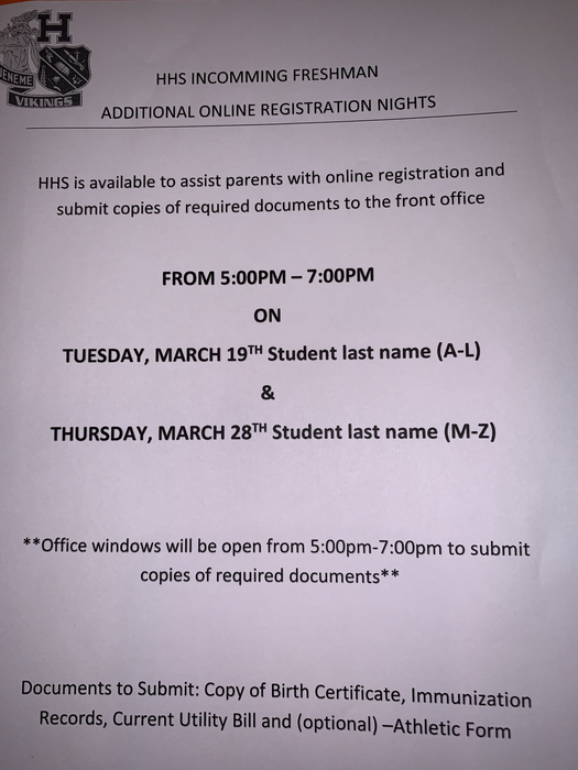 Registration Nights Flyer
