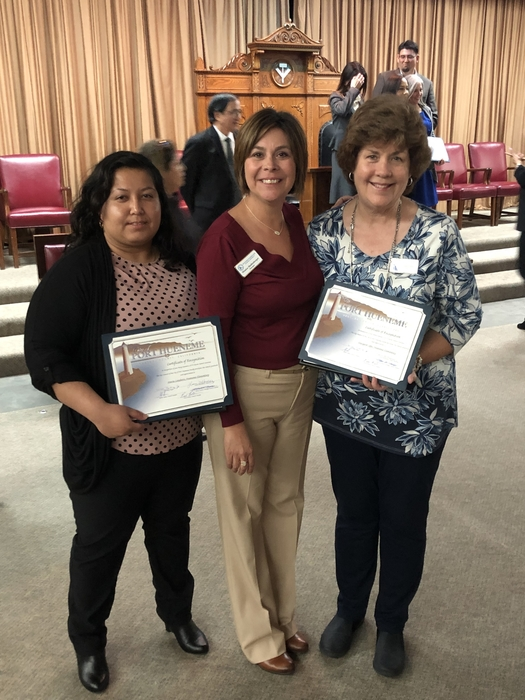 Masons Awards dinner and ceremony honoring Mrs. Sofer and Ms. Landeros