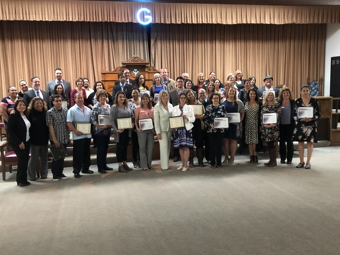 Congratulations HESD classifies and certificated award recipients!
