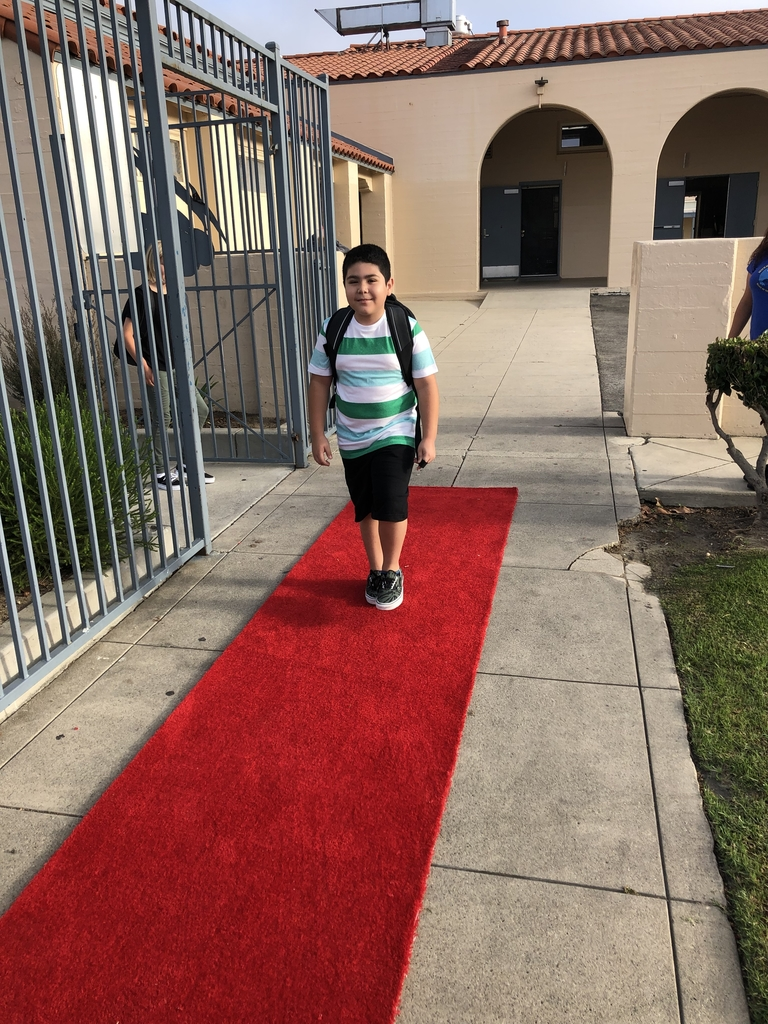 Walking the red carpet!