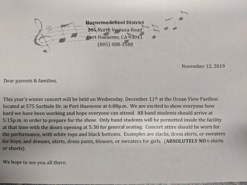 English Band Concert Flyer