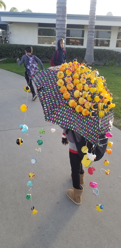 umbrella covered with ducks